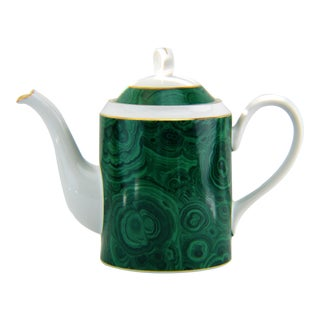 Neiman Marcus Malachite Coffee Tea Pot