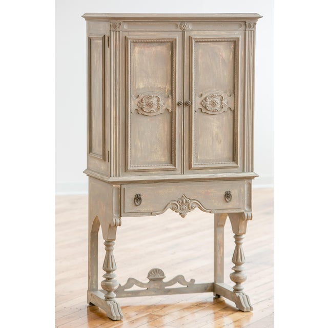 1920s Distressed Painted Armoire - Image 2 of 7
