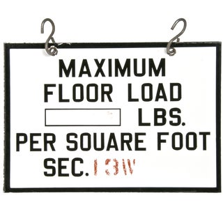"Vintage 2-Sided Enamel Sign ""Maximum Load"""