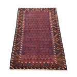 "Image of Red Baluchi Persian Rug - 2'10"" x 4'4"""
