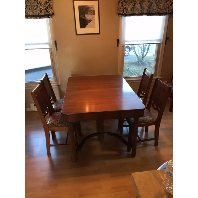 1940s Waterfall Dining Table Set