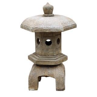 Chinese Hexagon Stone Garden Lantern