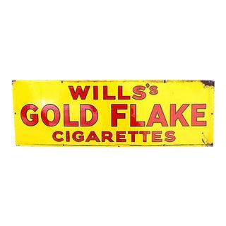 Porcelain Gold Flake Cigarette Sign