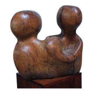Free-Form Burl Wood 'Head' Sculpture