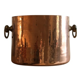 Copper Ice Bucket With Slots for 2 Bottles