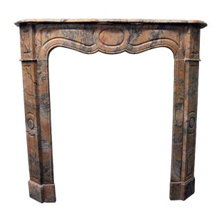 French Pompadour Marble Mantel