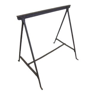 French 1930 Wrought Iron Desk or Table in the Manner of Giacometti