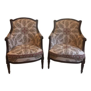Antique Bergere Chairs - A Pair