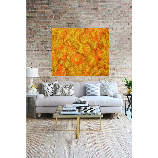 """Inside Amber"" Large Abstract Painting by Trixie Pitts - Image 3 of 4"