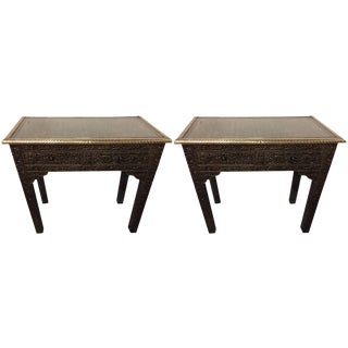 Compatible Metal over Wood Royal Wall Console - A Pair