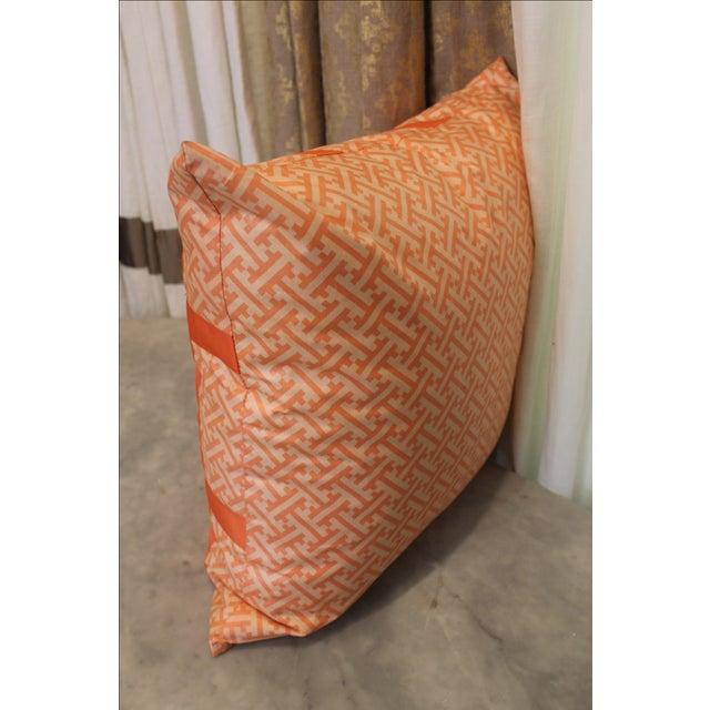 Orange Greek Key Pillow - Image 6 of 6