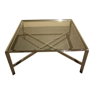 Chrome & Glass Cocktail Table