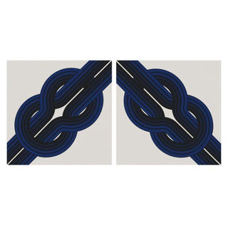 """Knots"" Vintage 1973 Framed Canvas Graphic Art Set"