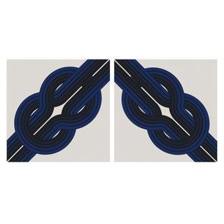 """""""Knots"""" Vintage 1973 Framed Canvas Graphic Art Set"""