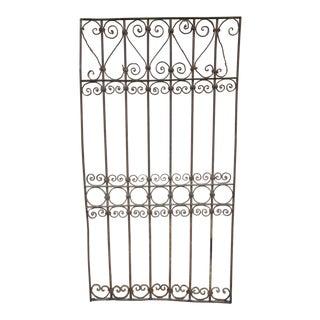 Antique Victorian Pink Iron Gate or Garden Fence