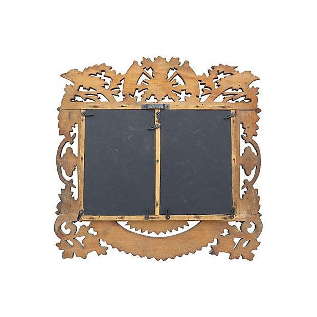 French Hand-Carved Wood Picture Frame - Image 2 of 2