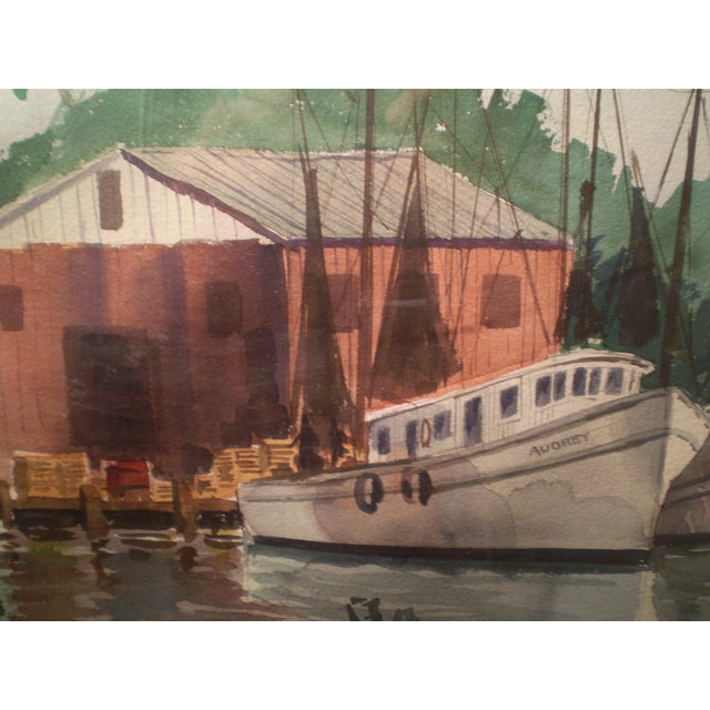 Shrimp Boats Watercolor - Image 3 of 5