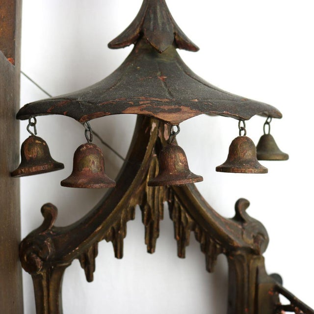 Chinese Chippendale Hanging Pagoda Wall Shelf - Image 7 of 11