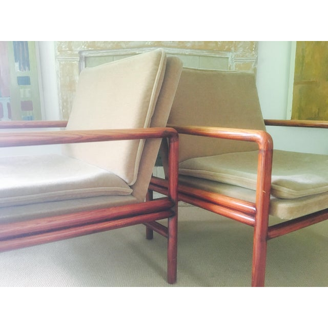 Image of Mid Century Lounge Chairs - a Pair