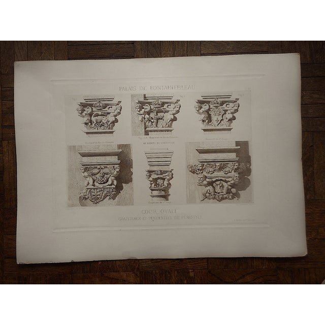 Antique Sepia Architectural Engraving - Image 3 of 3