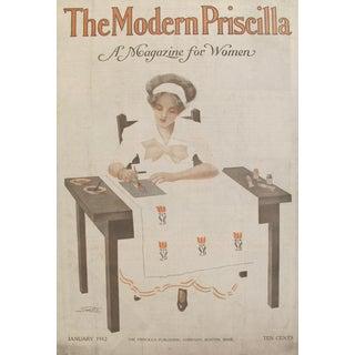 Original 1912 American Poster Modern Priscilla Crafting Cover