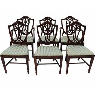 Mahogany Shield Back Dining Chairs - Set of 6