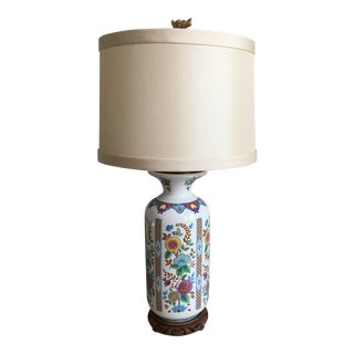 1940s French Porcelain Lamp