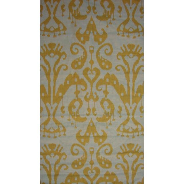 Image of Set of 4 Custom Yellow Gold Cream Ikat Shades