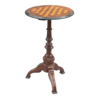 English Edwardian Walnut Games Table