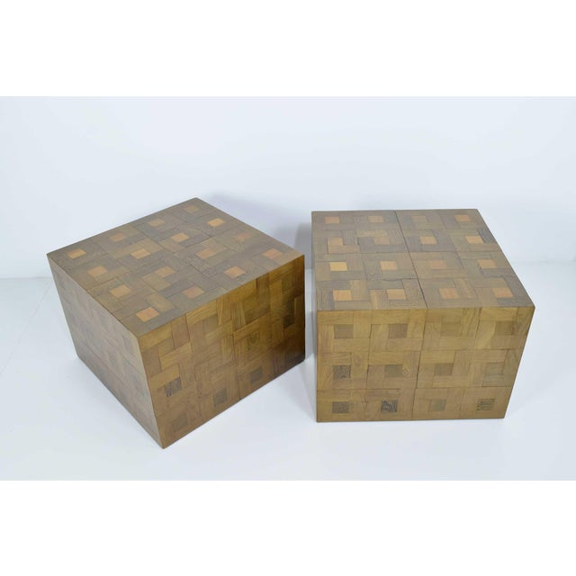 Pair of Parquet Oak Side or Coffee Tables - Image 6 of 7