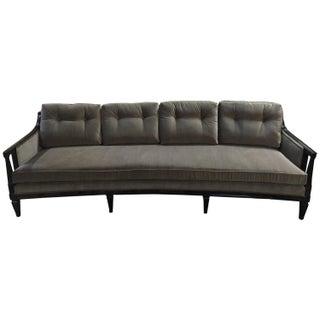Mid-Century Modern Curved Velvet Sofa
