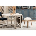 Image of Sarreid LTD White Winoma Stool