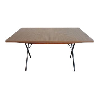 Early Mid-Century George Nelson for Herman Miller X-Leg Dining Table