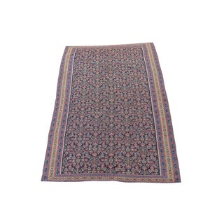 "Antique Senneh Kilim Rug - 4'1"" x 6'2"""
