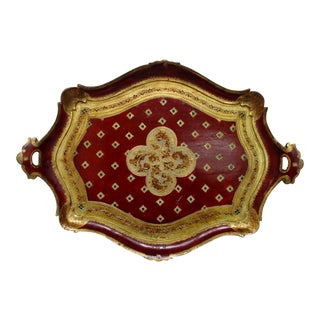 Vintage Oversize Florentine Tray