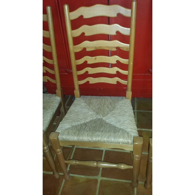 Ladderback Pine Chairs - Set of 4 - Image 4 of 8