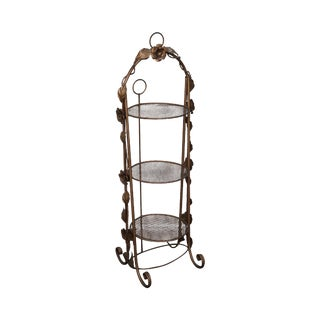 Italian Gold Painted Metal Muffineer Etagere