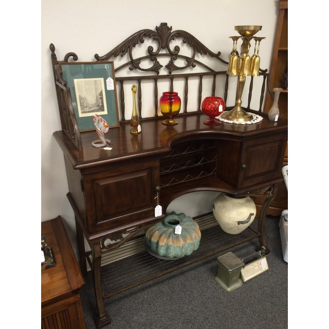 Beautiful Wrought Iron & Dark Wood Buffet - Image 7 of 10