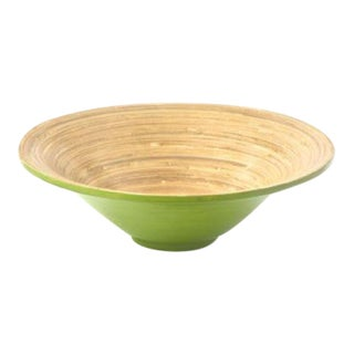 Green & Natural Spun Bamboo Serving Bowl