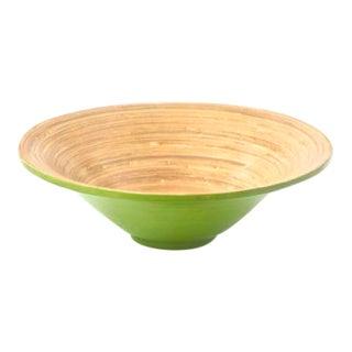 Green & Natural Spun Bamboo Serving Bowl