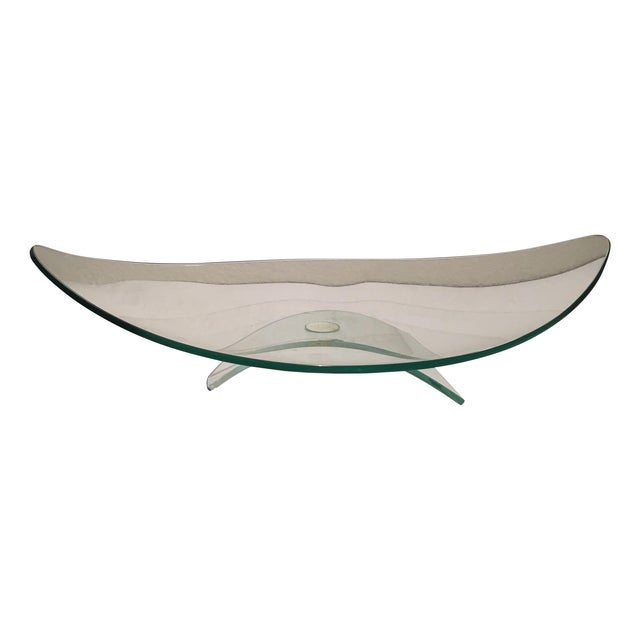 Modern Footed Glass Dish - Image 1 of 7