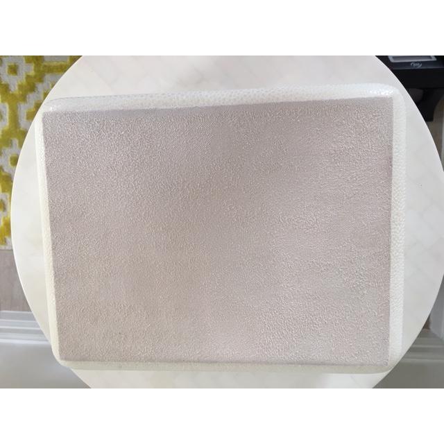 Cream Shagreen Jewelry Box - Image 6 of 6