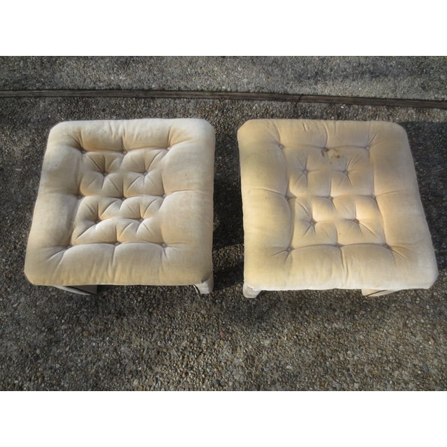 Vintage Parson's Style Ottomans - A Pair - Image 3 of 8