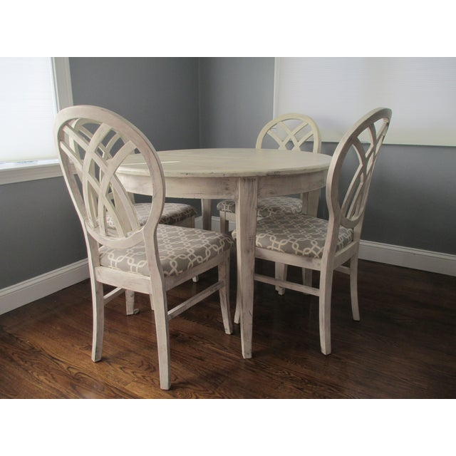 Image of Contemporary Round White Dining Set