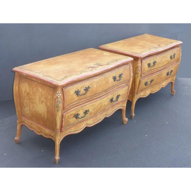 Vintage French Provincial Commode Nightstands - 2 - Image 4 of 11