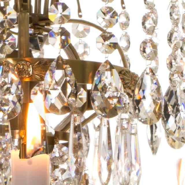 Empire Chandelier - Brass & Crystal - Image 4 of 4