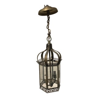 Antique Brass Hanging Lantern