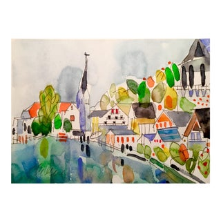 """Hallstatt"" Original Watercolor Painting"