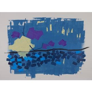Ice Bridge - Original Acrylic Ink Painting by Carolyn Reed Barritt