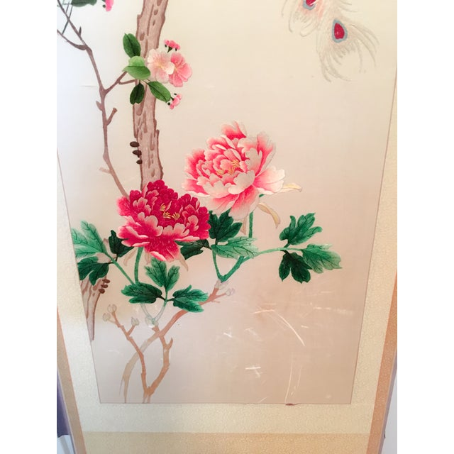 Silk Embroidered Chinoiserie Panels - Pair - Image 8 of 10